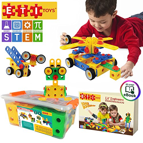 3 Year Old Boys Eti Toys 101 Piece Educational Construction Engineering Building Blocks Set This Toy Has All Best Gifts And For 2018