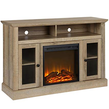 best entertainment center with fireplace
